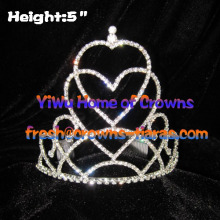 Pageant Crowns and Tiaras In Double Heart Shaped