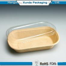 Bandeja de alimentação de papel impresso personalizado / Bandeja quente de alimentos com tampa