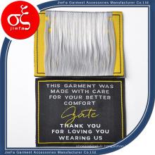 Étiquette tissée de haute densité / étiquette principale pour le costume