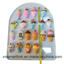Presentes de ímã de refrigerador de lembrança de sorvete de Polyresin