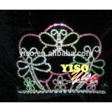 Старинный смешанный цветной кристалл бабочка тиара