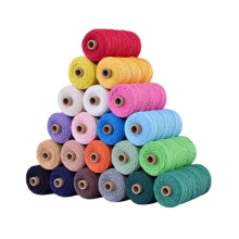 Wholesale colorful Macrame Cord Custom Color Cotton  cord DIY handmade rope   Cord For Garment and Shoes