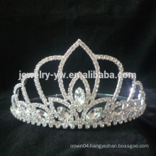 Pageant Wedding crystal flower Tiara Crown For Wedding Performance Party