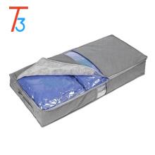 foldable storage box/fabric zipper bag/underbed quilt storage box