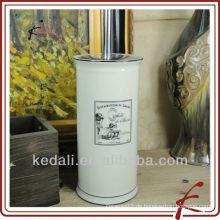 Weiße Glasur Keramik-Eck-WC-Bürste