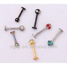 Edelstahl Labret mit Edelstein Kugel / magnetisches Labret Piercing
