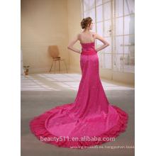 Una línea de princesa de cuello alto asimétrico barrido partido baile de fin de curso formal vestido de noche X251