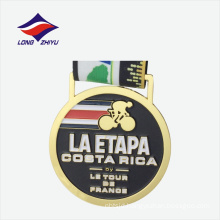 Golden round shape special sports travel challenge good quality medals
