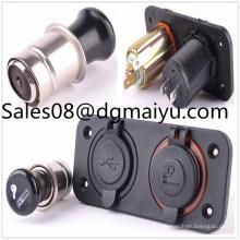 Car Modification 3.1A USB Buchse + Zigarettenanzünder mit Zigarettenkombination