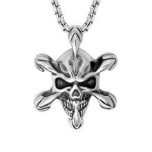 Gothic Skull Halskette Anhänger 316L Edelstahl Modeschmuck