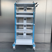 Chariot à instruments détachable en alliage d'aluminium d'hôpital