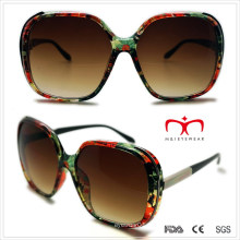 Plastik Damen Sonnenbrille mit Metall Dekoration (WSP508292)