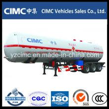 Semirremolque del tanque de gas del LPG del propano líquido de la alta calidad 58cbm
