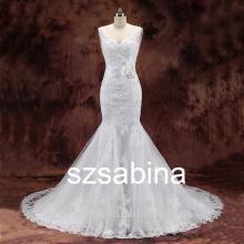 BD10081 new wedding dress 2016 Strapless chapel mermaid lace wedding dress