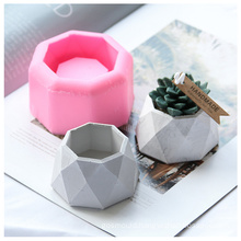 Diy plaster cement succulent planter flowerpot mould concrete flower pot molds silicone