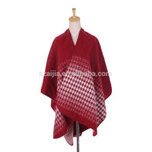 Moda mujer Jacquard ombre invierno señoras poncho abrigos