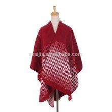 Femmes de mode Jacquard Ombre hiver femmes poncho manteaux