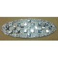 Ellipse strass rifilatura, abbagliante diamante Hot Fix Motif