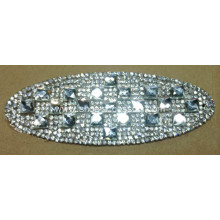 Ellipse Rhinestone Trimming, Dazzling Diamond Hot Fix Motif