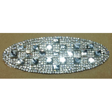 Ellipse Rhinestone Trimming, Diamante deslumbrante Hot Fix Motif