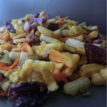 хрустящие закуски смешанные овощи жареные в вакууме