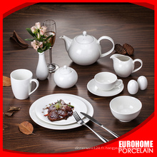 Discount de qualité ronde et ovale porcelaine saladier et plaque set