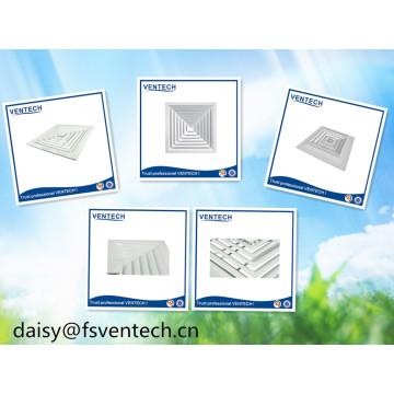 Difusor de aire cuadrado de aluminio del techo de la salida de aire de los sistemas de HVAC