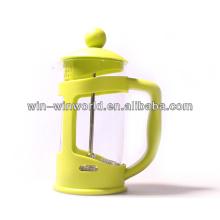 Atomizador de café amarelo da imprensa do francês da cozinha da manhã do vidro de Borosilicate