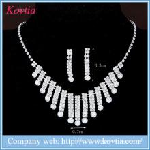 Níquel conjunto de jóias de cristal livre Nigéria moda acessórios de festa conjunto de jóias para senhoras
