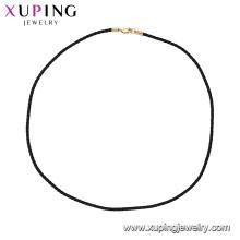 44856 xuping простой и модный веревка колье ожерелье в 18k покрытие