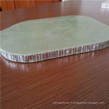 Nid d'abeille en aluminium avec peau en fibre de verre pour panneaux de plancher