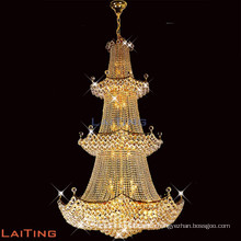 2017 luxury Big Amber K9 Crystal Chandelier Lamp for Hotels Decoration LT-61005