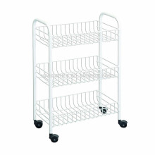 vivinature apilamiento Metal Steel Storage Basket Display Shelf Alambre rack
