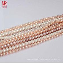 6-7mm runder realer Perlen-Strand-Großverkauf