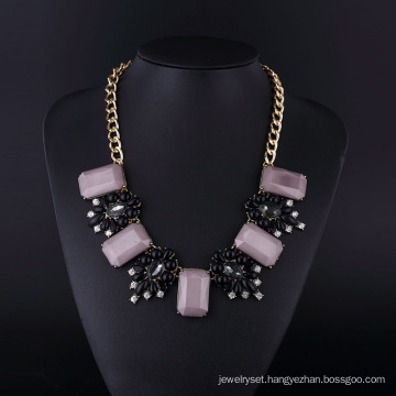 Purple Acryl Bohemia Style Gold Plating Necklace
