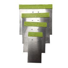 50# Carbon Steel  50 80 100 120mm  Putty Knife  Scraper Green Color PP Handle Paint Scraper