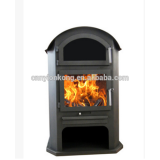 Eco-friendly Good quality mordern steel plate wood burning stove with oven CE certificate indoor freestanding wood burning stove