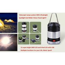 Poderoso, levou lanterna de acampamento telescópica