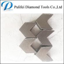 Шлифование бетона и напольного покрытия сегмента в части инструмента