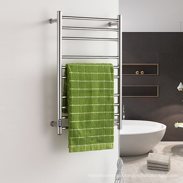 Electric Stainless Steel Chrome Bathroom Heated Towel Rail Radiator With Timer