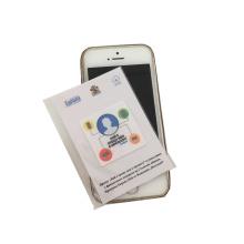 Autocollant imprimé de microfibre de nettoyage d'écran de téléphone fait sur commande