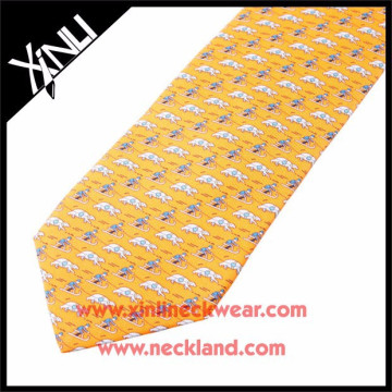 2015 New Fashion Men Silk Made Logo Printed Custom Ski Ties