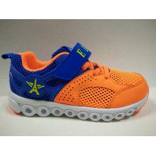 Симпатичные оранжевые полые из воздуха сетки обувь для детей