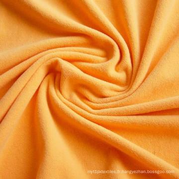 Tissu polaire micro brossé de polyester utilisé pour la couverture