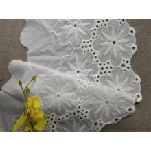 Renda de algodão Raschel em marfim para acessórios de vestuário