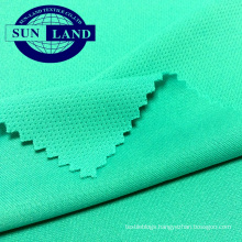 100% polyester quick dry fit moisture knitting mesh fabric for soccer uniform