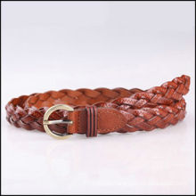 newest women's skinny PU plaited belts