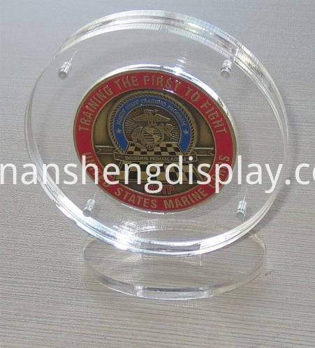 Clear Acrylic Coin Display Holder