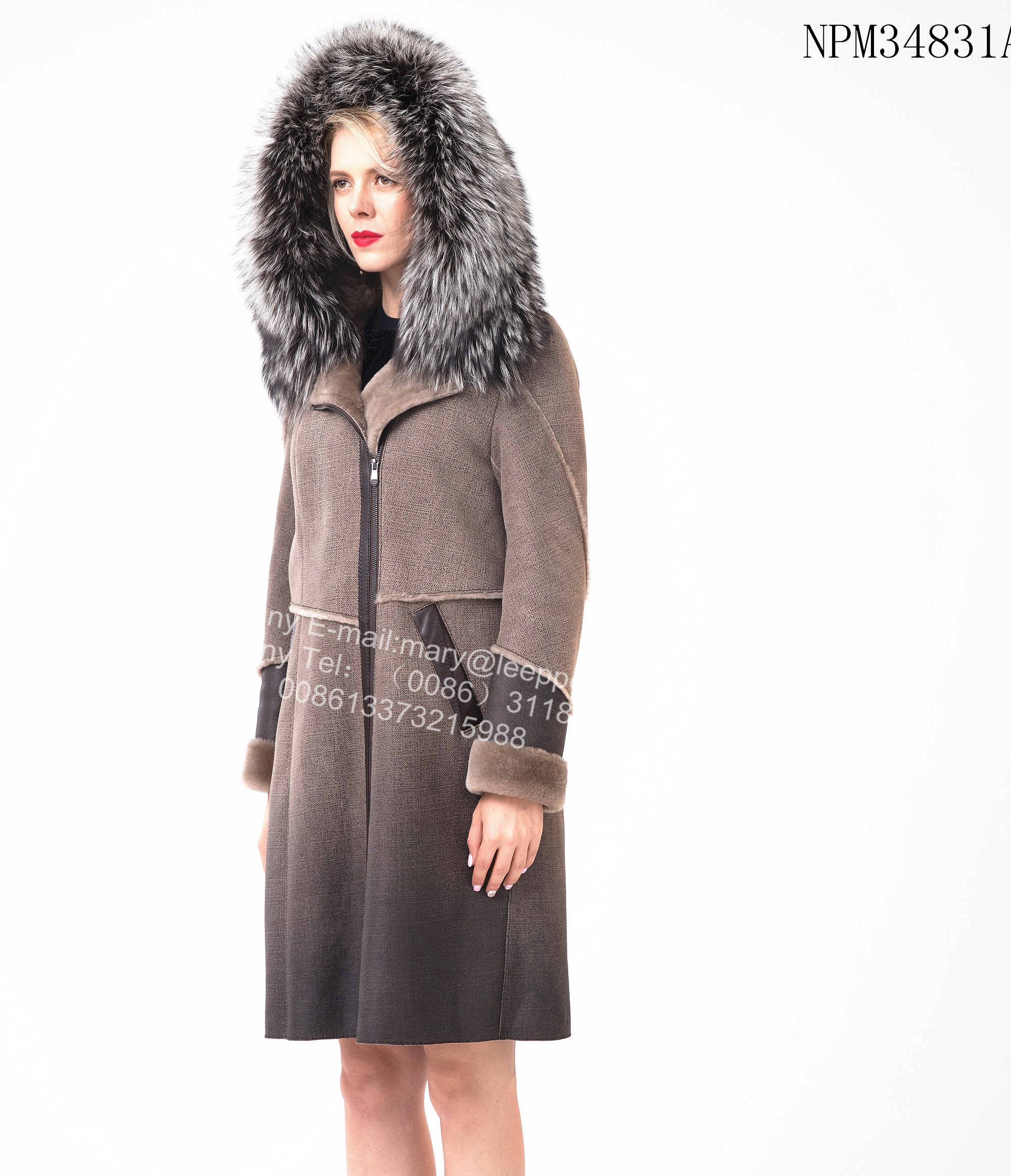 Short Women Australian Merino Shearling Thick Coat