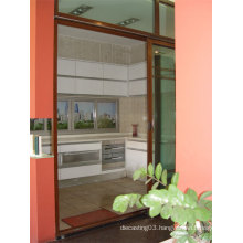 Automatic Aluminum Door in Red Color